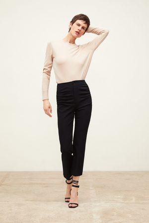 Zara Stretchbukse med rynker