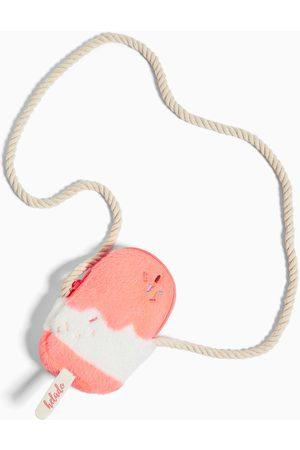 Zara Mini skulderveske iskrem i kunstpels