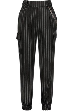 Boohoo Pinstripe Chain Cargo Pants