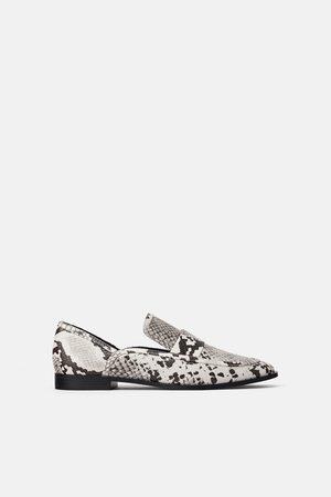 Zara Dame Loafers - Mokasin med dyremønster