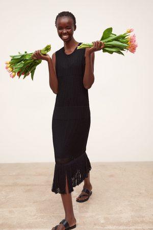 Zara Lang kjole med frynser