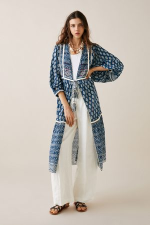Zara Dame Kimonoer - Mønstret kimono med broderier