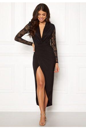 John Zack Dame Kjoler - Lace Bodice Rouch Dress Black XL (UK16)