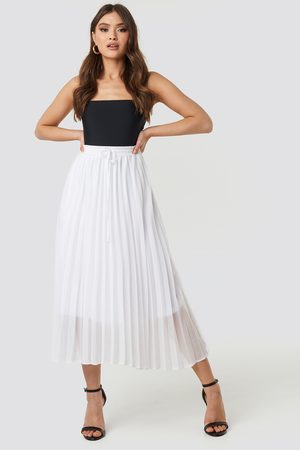 NA-KD Drawcord Pleated Midi Skirt