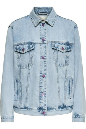 Only Printed Denim Jacket Women Blue
