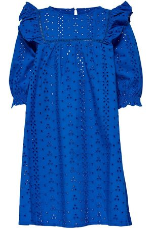 Only Kids Frill Short Dress Women Blue