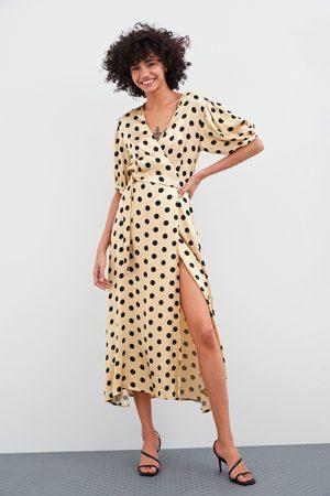Zara Omslagskjole med prikker