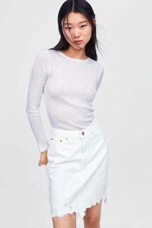 Zara Miniskjørt white