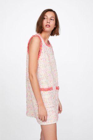 Zara Dame Kjoler - Kjole med frynser i kantene