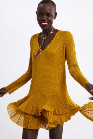 Zara Dame Korte kjoler - Minikjole med volanger