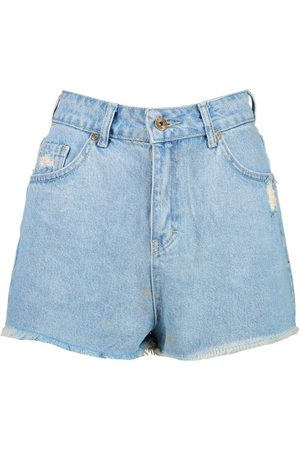 Boohoo Mid Rise Denim Short
