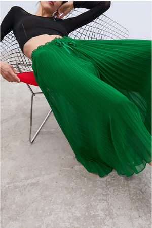 Zara Plissert culottebukse