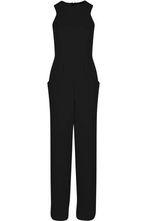 Boohoo Round Neck Textured Jumpsuit