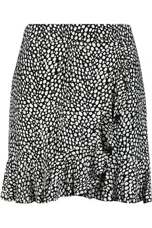Boohoo Plus Dalmation Print Ruffle Skater Skirt
