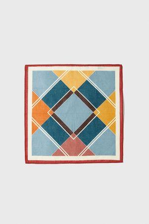 Zara Herre Lommetørkler - Lommetørkle med geometrisk mønster