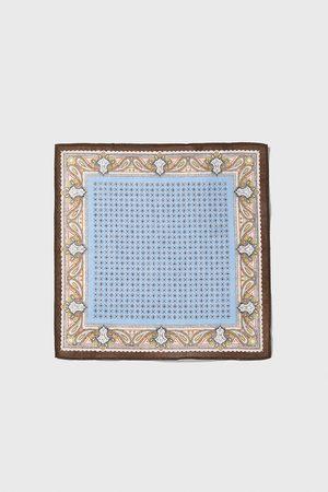 Zara Lommetørkle med kombinert mønster