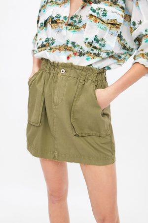 Zara Dame Miniskjørt - Miniskjørt med lommer