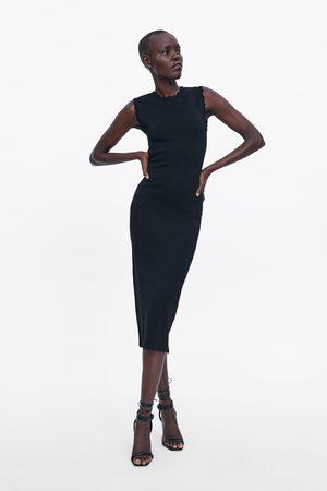 Zara Dame Strikkede kjoler - Strikkekjole med bølger