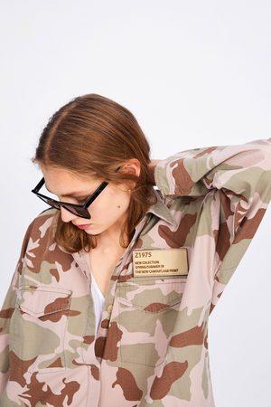 Zara Kamuflasje skjortejakke med lommer