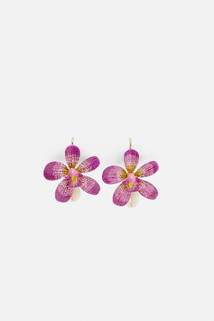 Zara øreringer med blomst og skjell