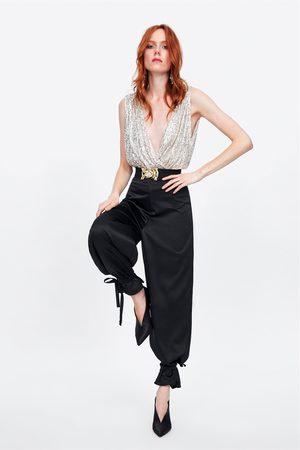 Zara Dame Bukser - Bukse med sløyfer