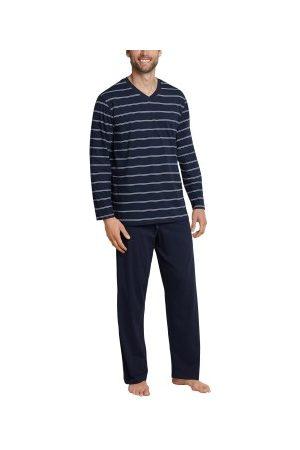 Schiesser Herre Pyjamaser - Day and Night Long Stripe Pyjama * Fri Frakt