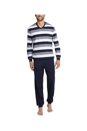 Schiesser Day and Night Long Pyjama With Cuffs * Fri Frakt