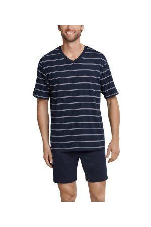 Schiesser Herre Pyjamaser - Day and Night Short Stripe Pyjama * Fri Frakt