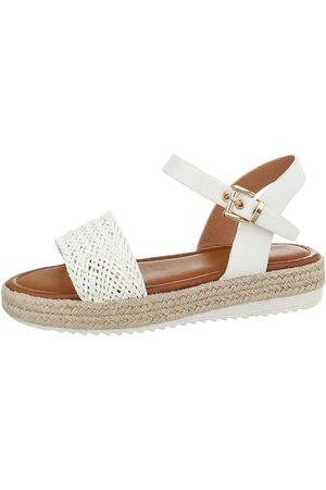 53839c4c4b26 Salg Hvite sandaler til Dame på tilbud