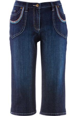Bonprix Dame Jeans - Capri-Jeans med stretch