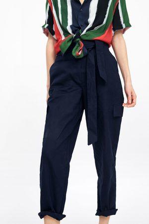 Zara Cargobukse i lin