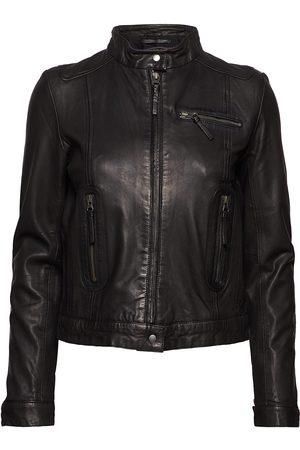 MDK / Munderingskompagniet Dame Skinnjakker - Karla Leather Jacket Skinnjakke Skinnjakke Svart
