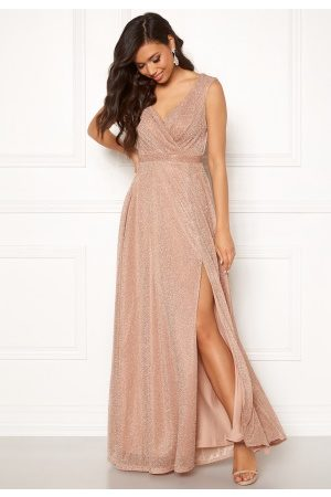 Goddiva Wrap Front Maxi Dress Nude XXL (UK18)