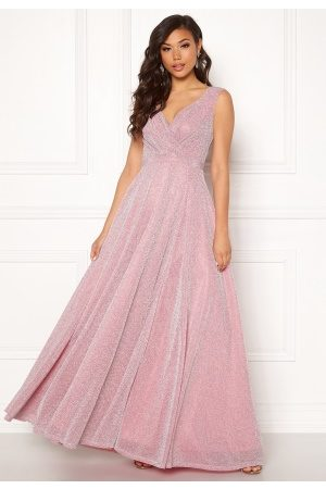 Goddiva Dame Maxikjoler - Wrap Front Maxi Dress Pink M (UK12)