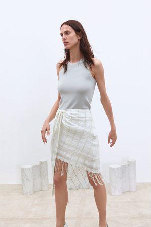 Zara Miniskjørt med frynser