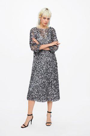 Zara Kjole i nettingstoff med paljetter limited edition