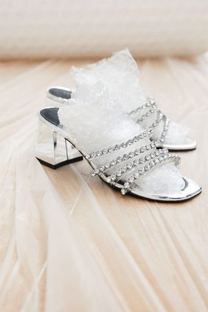 Zara Sandal med høy bred hæl og juvel