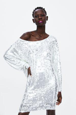 Zara Dame Festkjoler - Minikjole med paljetter