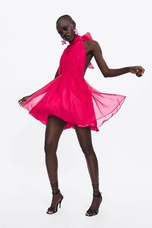 Zara Dame Korte kjoler - Minikjole i organza