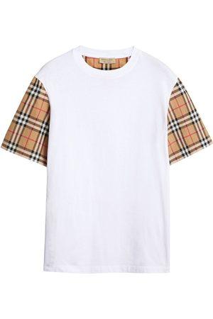 Burberry Vintage Check Sleeve Cotton T-shirt