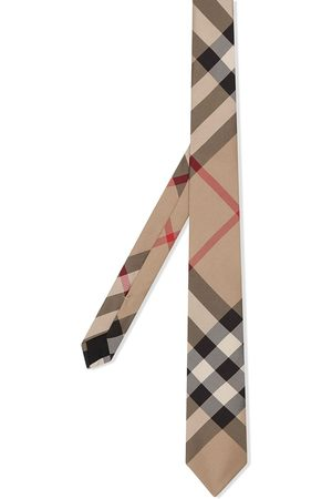 Burberry Classic Cut Check Silk Tie