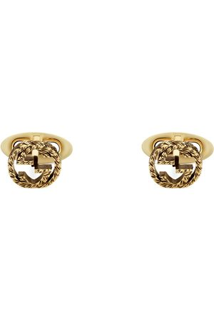 Gucci Yellow gold Interlocking G cufflinks