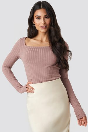NA-KD Square Neck Long Sleeve Top