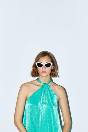 Zara Dame Halterneckkjoler - Kjole med halterneck og sateng effekt