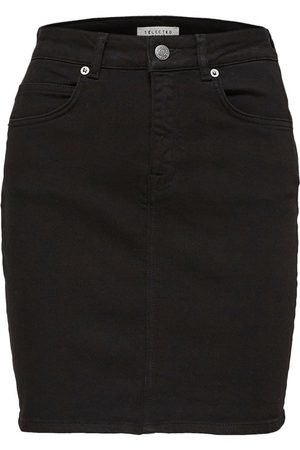 Selected Denim skirt High waist
