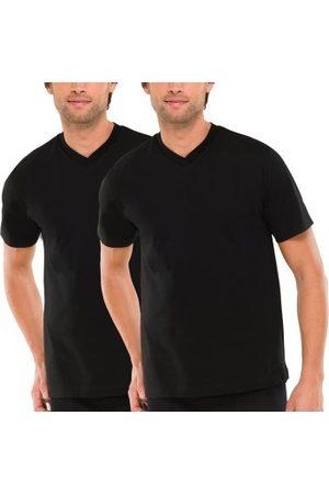 Schiesser Herre Kortermede - 2-pakning Essentials American T-shirts V-neck * Fri Frakt