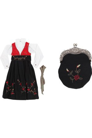 Maxemilia /rød Hedda med veske festdrakt