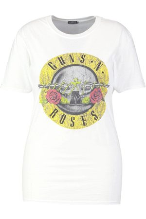 Boohoo Plus Guns N Roses License T-Shirt