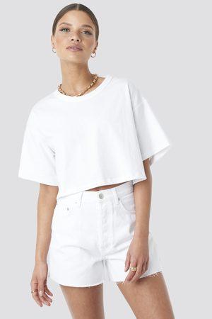 NA-KD Dame High waist - Denim High Waist Shorts