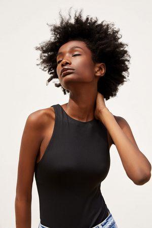 Zara Dame Body - Topp med halterneck